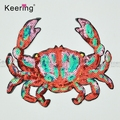 new design sequin crab patch applique for clothes WEFB-274