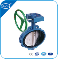 Competitive Prices Worm Gear Operation Cast Iron Butterfly Valve