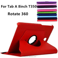 china supplier tablet covers for samsung galaxy tab a t350 8 inch tablets cases Rotate 360 degrees tablet pc cover 8''