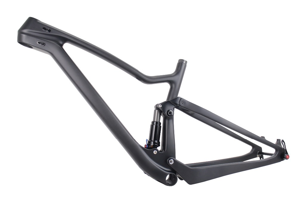 650b+ FS027 carbon mountain bike frame 2017 full suspension enduro mtb frames 27.5er rear shock 165*45