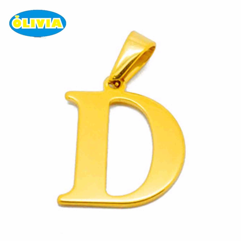26 English letter different designs of alphabets stainless steel greek charms pendant