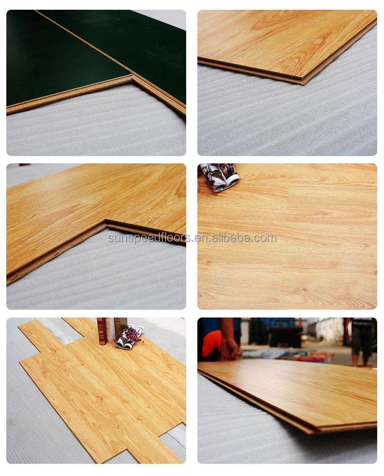 Indoor usage interlocking wooden 8mm laminate flooring for Interlocking laminate flooring