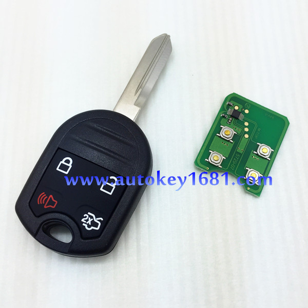 car <strong>key</strong> for ford Remote <strong>key</strong> 4 button 315Mhz/433,hz with 4D63(40bit) transponder chip