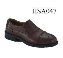XY,civil service formal classic brown pattern design office shoes for men