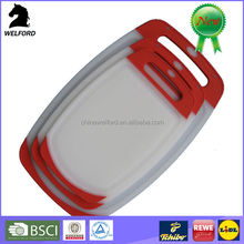 Non-slip breakfast board cutting Antibacterial plastic Chopping board set