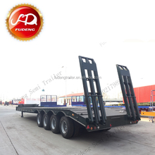 Fudeng cheap 4 axles 100 ton heavy haul tractor front load neck low bed trailer for sale south Africa