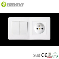 China Manufacturer 2 Gang 1 Way General-Purpose New Design Wall Switch And Socket