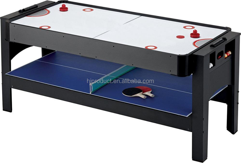 Factory price 3-In-1 Multi-Game Combo Table , Pool air hockey tennis table for kids