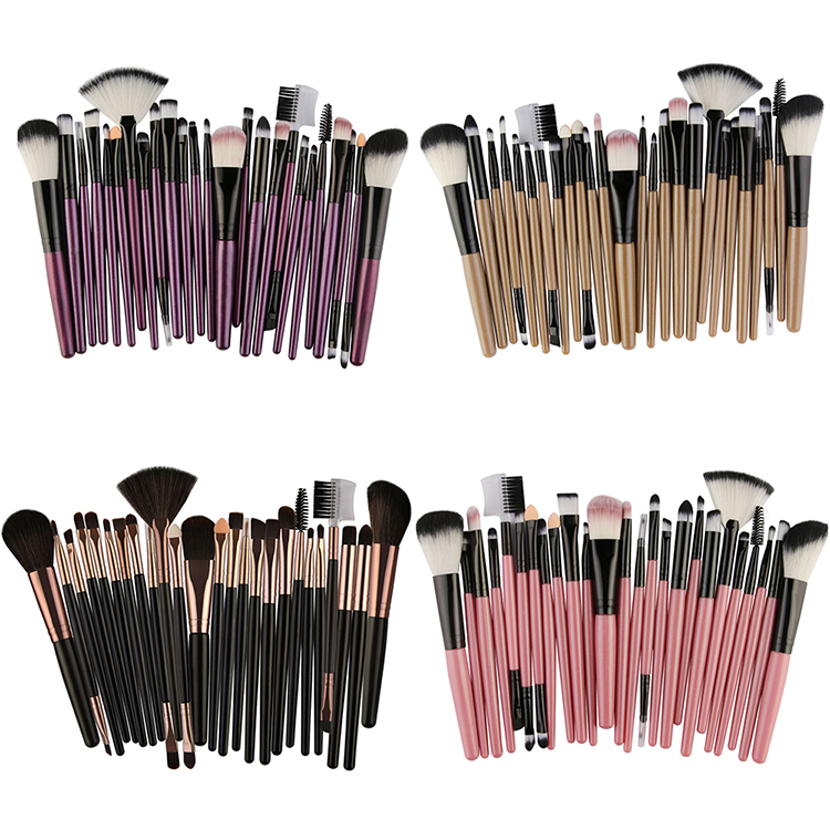 25/20/18Pcs Cosmetic Makeup Brush Set Foundation Eyeshadow Eyeliner Lip Make Up Multipurpose Eye Brushes For Makeup