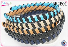 Fashion Leather Comb Shape Hair Band for Women