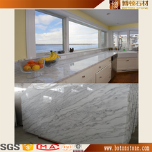 Polish high quality marble countertops for kitchen cabinets