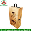 PU leather wine carrier Christmas wine gifts box made in China