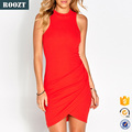 Ladies Sexy Clothing Red Knit Bodycon Dress Tight Party Dresses For Women