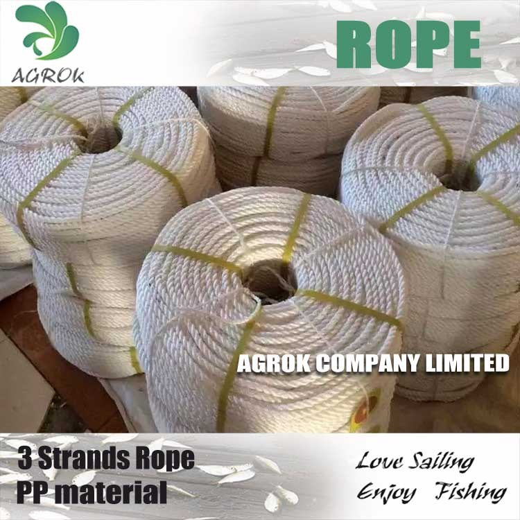 Commecial 3 Strands PP Rope