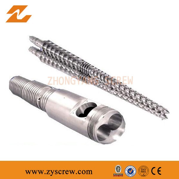 ISO 9001:2008 approved China Conical Twin Screw And Barrel Plastic Processing