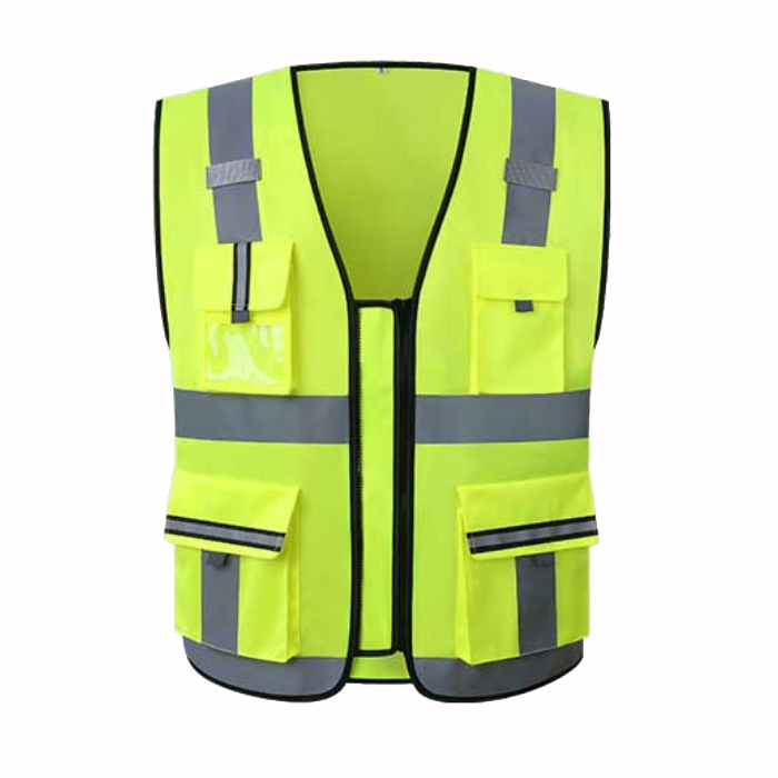 100% polyester reflective tape <strong>safety</strong> construct and traffic worker hi vis vest