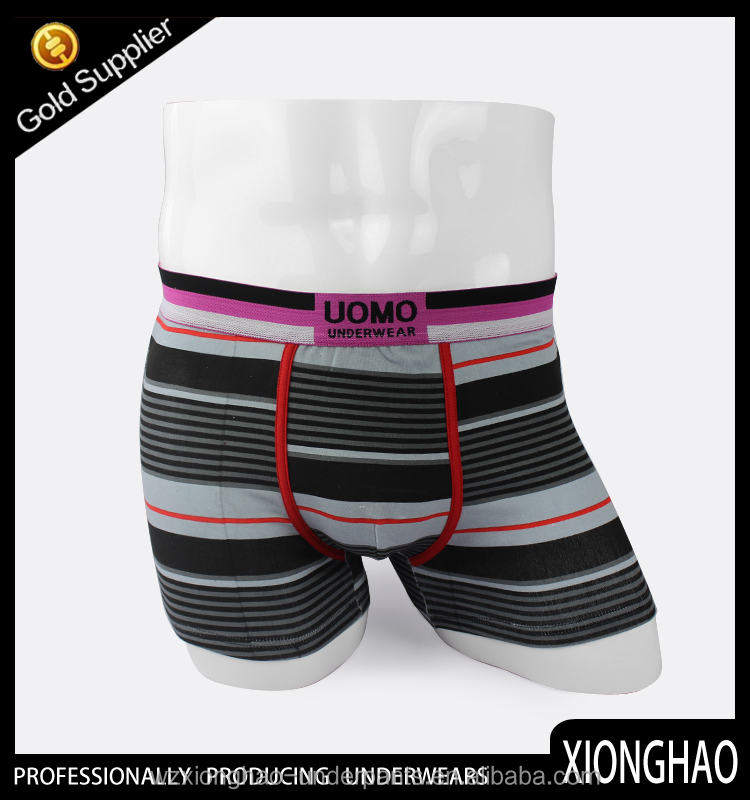 China customized Cheapest stripe gay sex men underwear