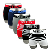 Small MOQ Multi Colors High Quality Seamless Elastic Stripe Men Underwear Boxers Briefs