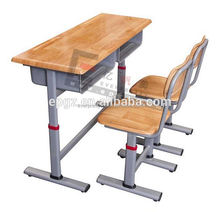 Guangzhou School Furniture Adjustable Tables and Chairs Student Double Desk and Chair
