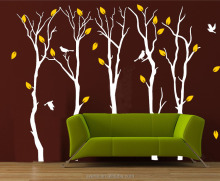 XL large size vinyl tree decorative stickers for furniture red tree pvc home decor wall sticker decals are mural wallpaper