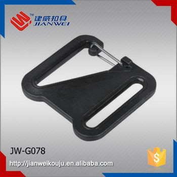 Durable POM plastic bag accessories, plastic square snap hook for belt JW-G078
