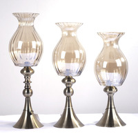 factory wholesale for flower arrangement stands metal hoder tall pineapple brown glass vase small mouth vase