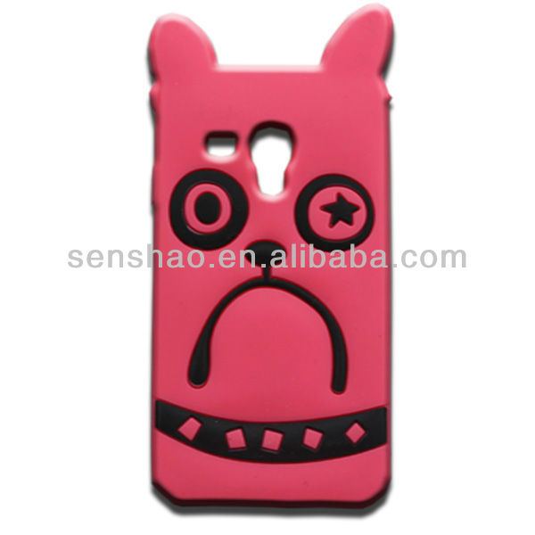 2016 trend product cheap price 3D cat silicone phone cover case for samsung galaxy s3