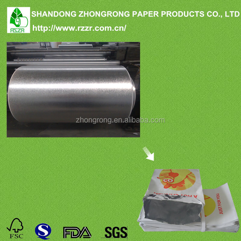 Aluminum foil coated wrpping paper with pe