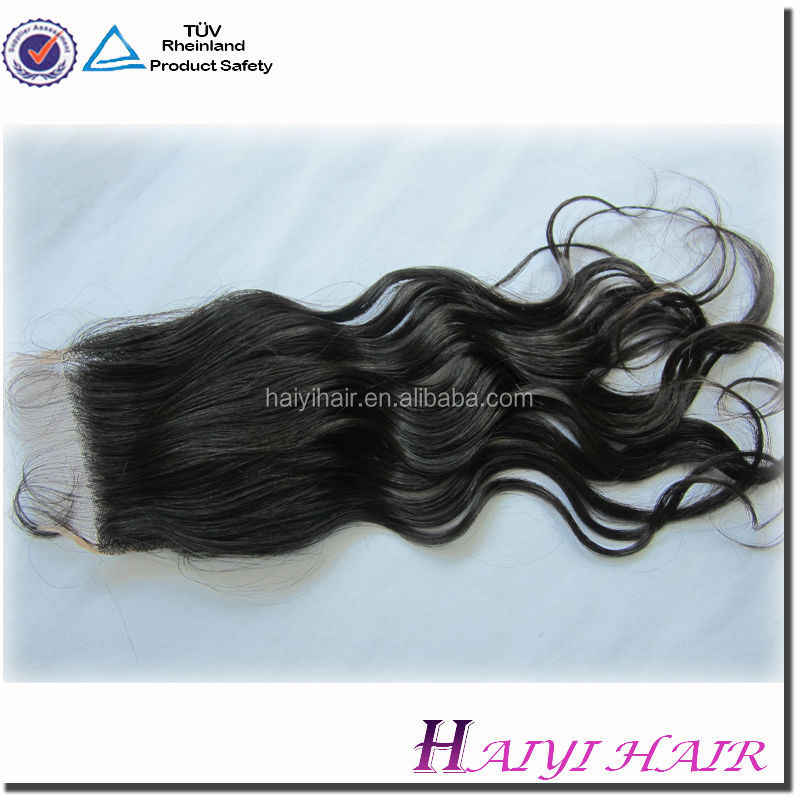 Top quality unprocessed natural raw virgin indian hair silk base closures