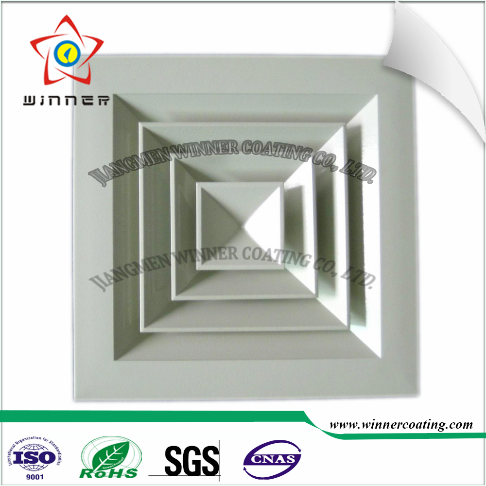 Indoor metal louver use sand texture white color smooth flat/Wrinkle effect epoxy polyester hybrid powder <strong>coating</strong>