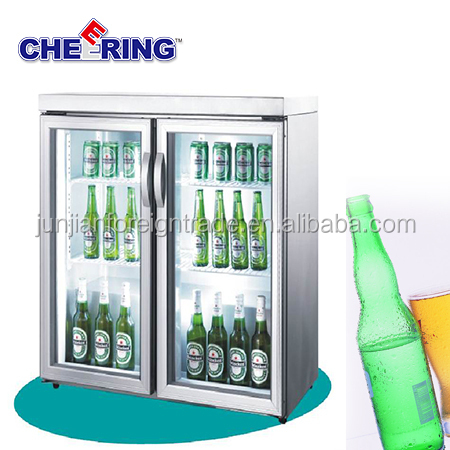 TG-200M2 Single temperature display cooler type hotel glass door mini bar fridge with CE approval in china