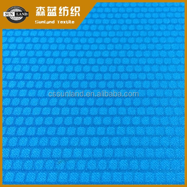 100% polyester breathable dri fit jacquard knitting fabric for sportswear