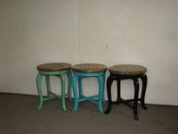 antique french style wooden stool