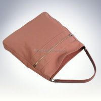 Latest Canvas tote bag COW leather handle