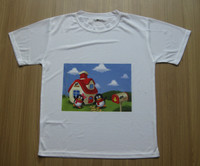 Sublimation blank T-shirt 100% cotton T-shirt for sublimation printing
