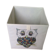 Cute Birds Painting Fabric Storage Container