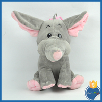 Playmats stuffy sitting grey elephant baby cartoon character plush toys