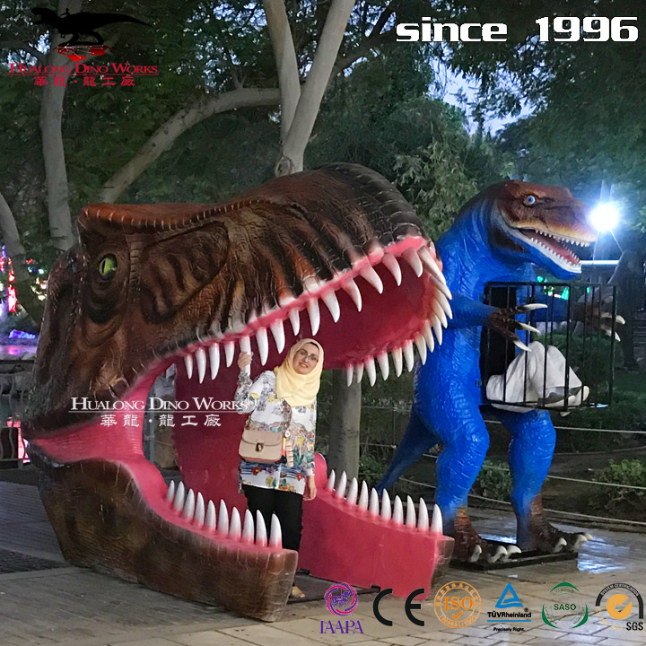 New ideal fiberglass dinosaur gate