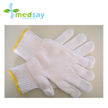White cotton working glove