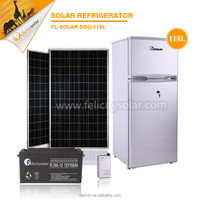 alibaba china home appliance 118L 12v fridge compressor DC 12 volt refrigerator freezer solar refrigerator freezer