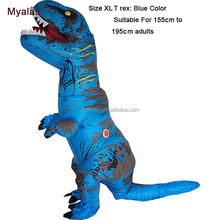T rex mascot Costume, inflatable dinosaur for adult costume t-rex costume inflatable Blue White Color