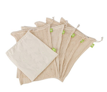 Hot sale 5pcs set cotton mesh grocery shopping and fruit produce bag and jute bag