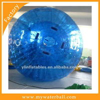 2016 exciting inflatable 0.8mmPVC blue zorb ball