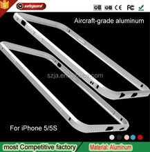 China Wholesale hot sale Custom Mobile phone accessory Aluminum Metal bumper cell phone case for iPhone 5 5S