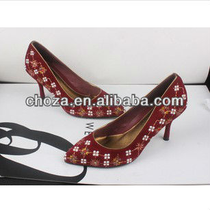 C20802A MIXED STYLES WOMEN'S PEARL INWROUGHT SINGLE SHOES
