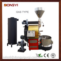 Automatic Intelligent Electric & Gas 6kg coffee bean roaster/coffee roasting machine /home commerical industrial coffee roaster