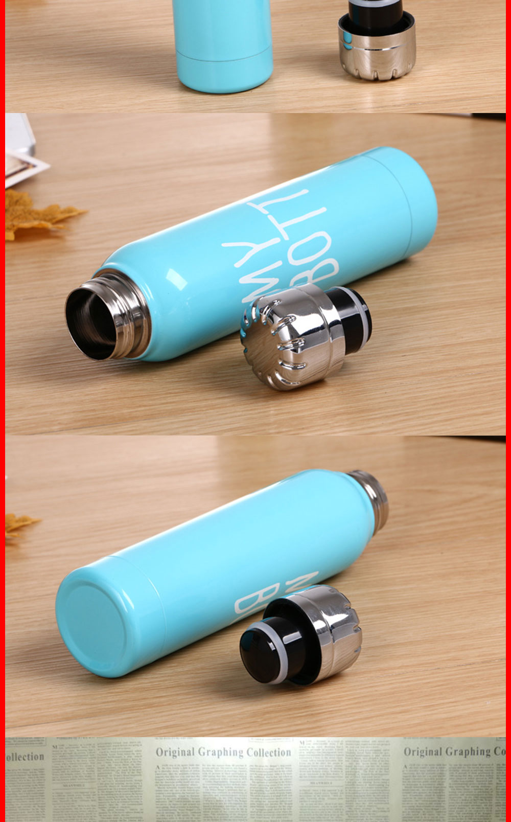 My Bottle Water Bottle Stainless Steel Water Bottle Thermos Cup Slim Vacuum Flask