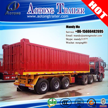 3 axle 40ft tipper trailer chassis/flatbed container tipper semi trailer for sale