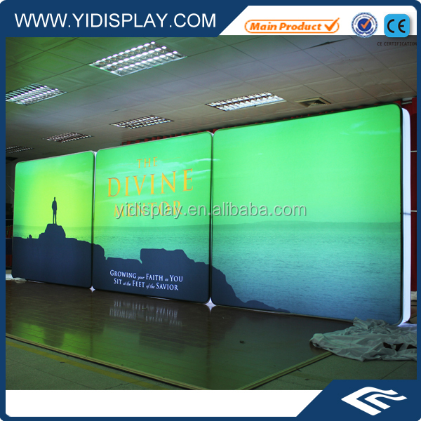 Double Sides Exhibition Booth LED Light stand