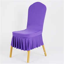 High quality pleated elasticity chair cover many colors spandex hotel chair cover